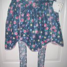 Navy Blue and Pink Poke-A-Dot Vintage Style Apron