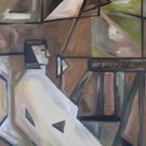 Cubist Figure with Horse