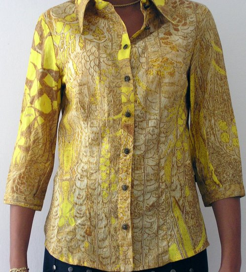women's stylish clothing, cotton shirt by JUST CAVALLI