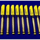 BLACKLIGHT INVISIBLE INK UV Black Light SECURITY MARKER Spy Pen PACK OF 10 PENS