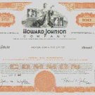 3 Vintage Howard Johnsons Stock Certificates GREAT VIGNETTES