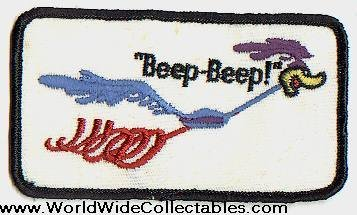 beep beep ORIGINAL 1960s Roadrunner Employee Patch