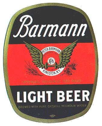 IRTP Barmann Beer Bottle Label KINGSTON CATSKILL NY