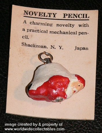 1940s Occupied Japan Composition SANTA Mechanical Pencil