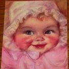 MAUDE FANGEL 1940s Calendar Print adorable baby face