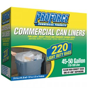 Clear Commercial Can Liners 45-50 Gal. ( 220ct )
