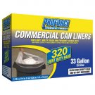 Clear Commercial Can Liners  ( 320ct - 33 Gal. )