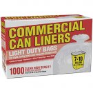 Clear Commerical Can Liners  (7-10 gal / 1000 ct)