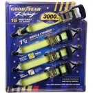 Goodyear Racing Ratchet Tie Downs  (4 / 15 ft. pack )