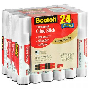 Scotch - Permanent Glue Sticks  (24 / .28 oz.)