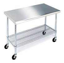 """49"""" Work Table with Stainless Steel Top"""