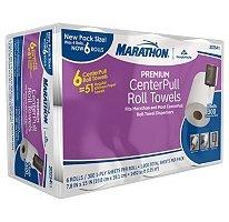 Marathon® - Center Pull Towels  (6 Rolls)