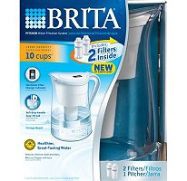 Brita - Pitcher Water Filtration System Combo (Large Pitcher + 2 Filters)