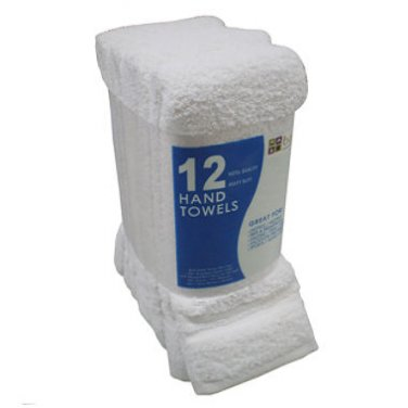White Hand Towels  (3 Pack / 12ct ea.)