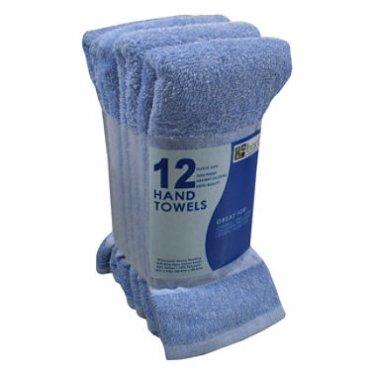 Blue Hand Towels  (3 Pack / 12ct ea.)
