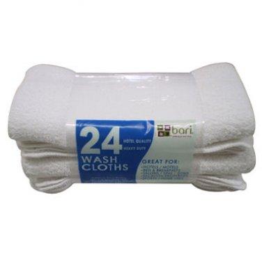White Wash Cloths  (24ct)