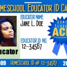 Free 2010 Educator Homeschool ID badge