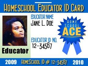 Free 2010 Educator Homeschool ID badge