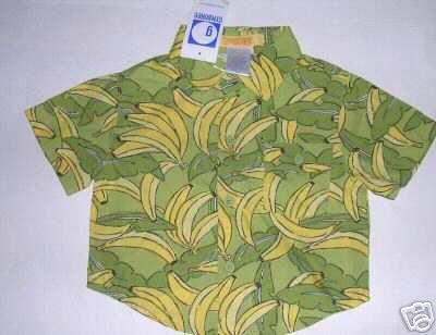 NEW Gymboree Go Bananas Button Up Shirt SUMMER 3-6 MONTHS