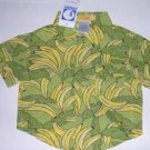 NEW Gymboree Go Bananas Button Up Shirt SUMMER 3-6 MONTHS
