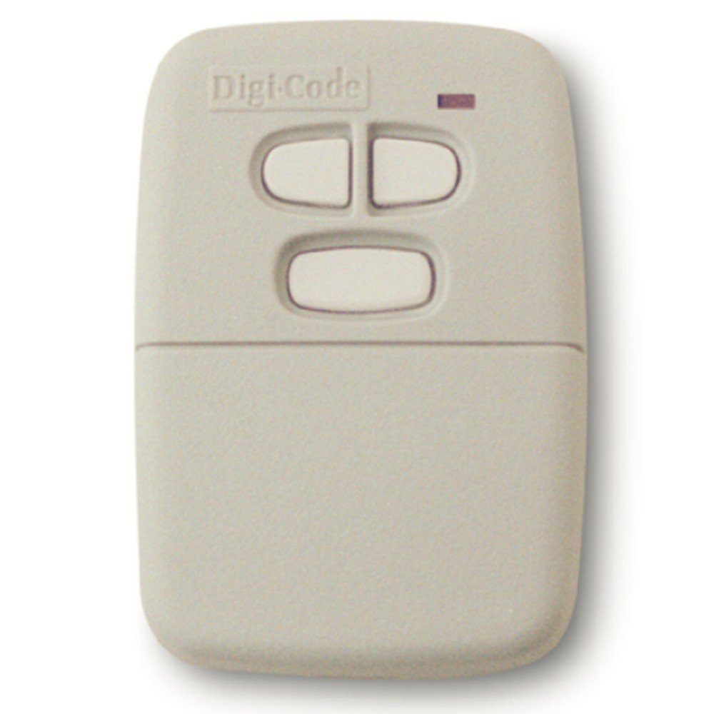 Digi Code 5030 Multi Code Compatible 3 Button, 10 Code Switch Gate or Garage Door Opener Remote