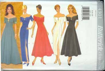 Prom Formal Evening Bridesmaid Dress Gown Pattern  Sz 6-8-10