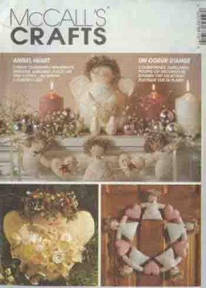 Angel Heart Ornaments Wreaths Garland Tree Topper/Doll McCall's 6819 Pattern