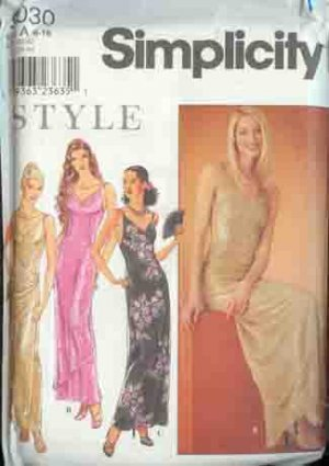 Prom, After Five, Evening  Dress  Simplicity 9030 Style Pattern Sizes 6 -16