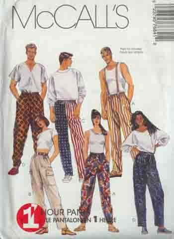 Gals & Guys Cute 1-Hour Pants / Pajama Bottoms McCall's 7646 Pattern  XSM  SM MED M