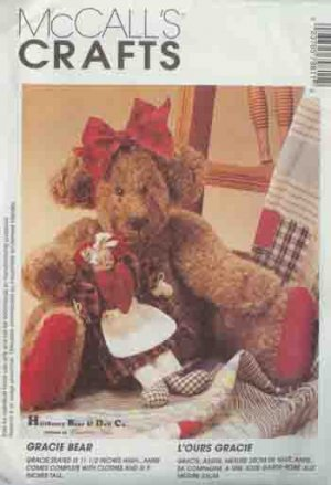 Gracie Bear and Her Doll  Precious - McCall 7981 Crafts Pattern