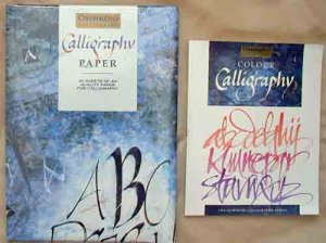 Beautiful Color Calligraphy Book & 30 Sheets Special Calligraphy Paper