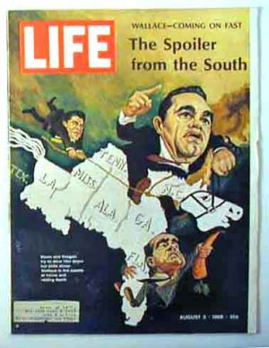 1968 Aug 2 Life Mag  George Wallace Pres Campaign  1st Heart Trans Photos