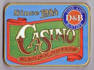 Dave & Busters Playing Cards 2 Decks in Collectible Tin