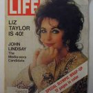 1972 Feb 25 Life Magazine:   Liz Taylor at 40.   Howard Hughes