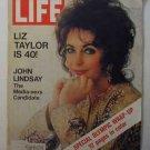 1972 Feb 25 Life Magazine:   Liz Taylor at 40.   Howard Hughes