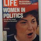 1972 June 9. LIfe Magazine:  Women in Politics. NOW.  Bella Abzug. Nixon USSR Trip