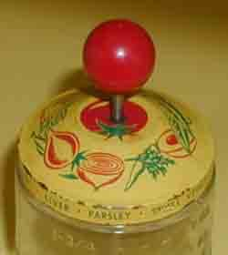 Kitchen Chopper With Red Wooden Knob Handle.  Retro 1940s 1950s.