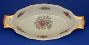 Vintage Crown Imperial Czecho-Slovakia Relish Dish Pattern CIM16