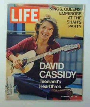 1971 Oct 29 Life Magazine  Shah of Iran Party. David Cassidy. H. Rap Brown Capture