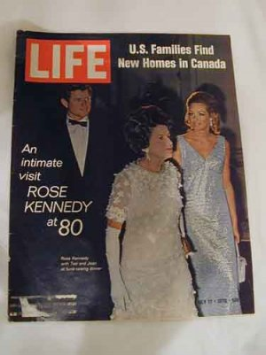 1970 July 17  Life Magazine  Rose Kennedy at 80. Ted Kennedy & Wife Joan Kennedy on Cover
