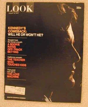 1971 Aug 10 Look Magazine   Ted Kennedy    Teddy Kennedy   Berlin Wall