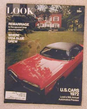1971 Sept 21  Look Magazine. Vietnam. Scoop Jackson. Vida Blue. 1972 Auto Preview