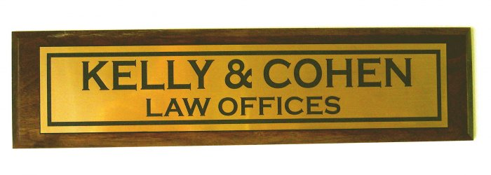 Wall Door Office Name Plate Plaque Custom Wood