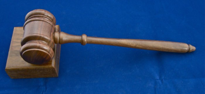 Gavel & Sound Block New Walnut Judge Auctioneer Gift