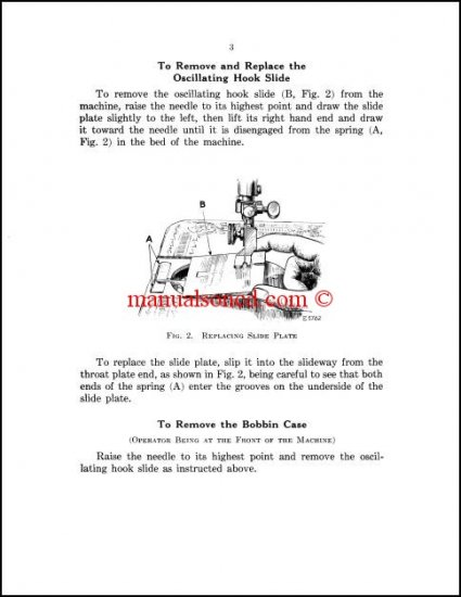 Singer 66 - 99 - 185 Sewing Machine Service Manual