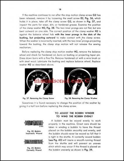 Singer 127-128 Sewing Machine Service Manual