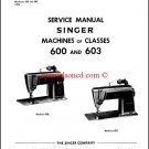 Singer 600 - 603 Sewing Machine Service and Repair Manual