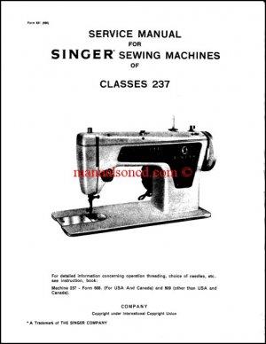 Singer Model 237 Service And Repair Manual