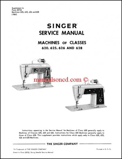 Singer 620, 625, 626, 628 Service Manual