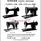 Singer 193M - 194M - 227M - 228M Service And Repair Manual